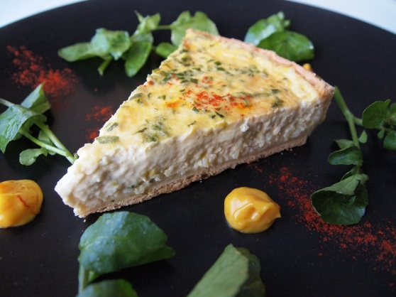 Cornish Crab Shortcrust Tart, Watercress, Rouille