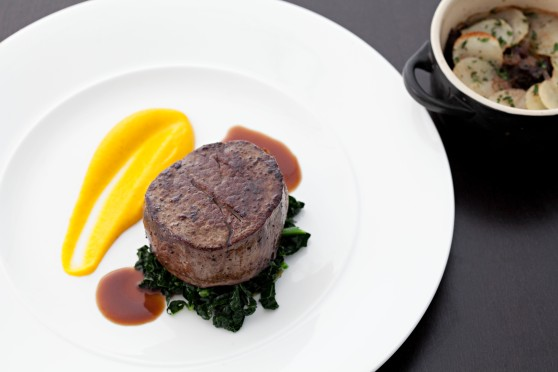 Hereford Beef, Anise Carrots, Ox Cheek Boulangere, Back Kale, Jus